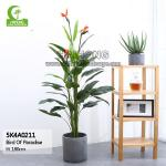 Realistic 180cm Artificial Bird Of Paradise Plant For Decoration