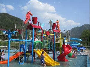 China Water Entertainment Kids Water Playground , Summer Fun Water Park 50 People on sale