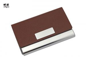 China Sterling Silver Business Card Holder Engraved Gift , Classy Executive Business Card Case on sale