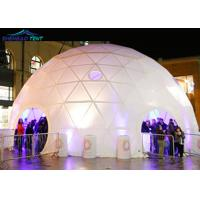 Big White Geodesic Event Dome Tent wIth Hot Galvanized steel tube