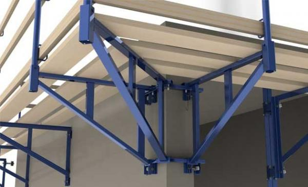 Oem Roof Safety Post Bracket Catwalk Guardrail Support