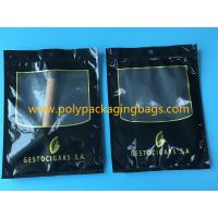 China Chinese factory custom cigar moisturizing plastic zipper bag humidification system with transparent window on sale