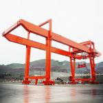 Double Girder Mobile Container Gantry Crane Wire Rope Current Overload Protection