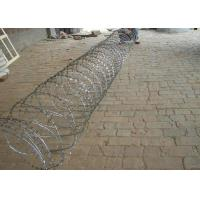 Hot Dipped Galvanized Razor Barbed Wire For Fence , Electric Barbed Wire Fence