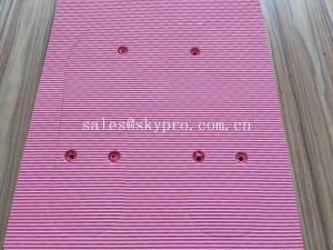 China A folha imprimindo feita sob encomenda cor-de-rosa da espuma de EVA na praia poli do saco fechou a sola moldada pilha da folha dos falhanços de aleta de EVA on sale