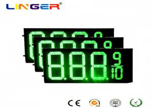 China IP54 Rear Waterproof RF Controller LED Gas Station Price Signs 12 Inch on sale