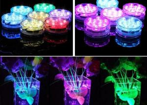 China Plastic Vases RGB LED Light Base Stand IP54 For Wedding Decoration ,  Remote Control on sale