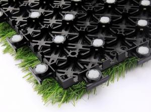China Anti Skid Interlocking Sports Flooring With Artificial Grass For Outdoor Sports on sale