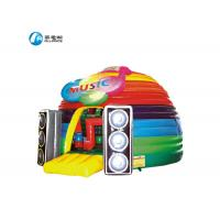 Colorful KTV party castle inflatable bounce house music house inflatable castle with cover