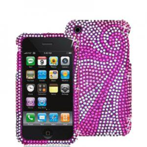 China Purple Diamond Case Cover For Apple Iphone 4G/4GS on sale