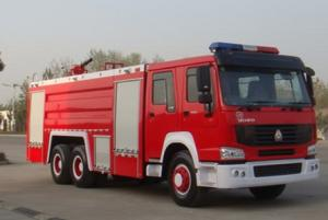 China Water And Foam Fire Engine Truck , HOWO 290 Hp Heavy Rescue Fire Truck Water Tank on sale