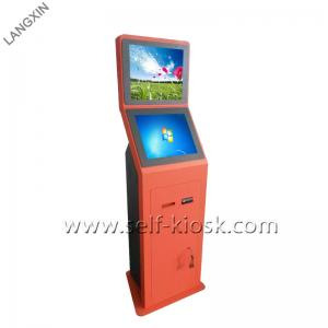 China Windows OS 19 Inch Self Service Cash Payment Kiosk Cash Acceptor Dual Monitor on sale