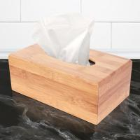 China hot selling bamboo tissue paper box with cover for high quality and factory price on sale