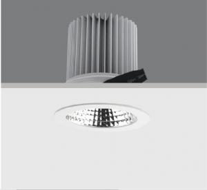 China Fixed High Power LED Recessed Downlight 40W CITIZEN COB IP20 For Hotel Lobby Pured Aluminum on sale