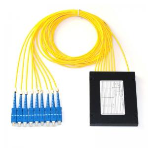 China ABS Box Type Fiber Optic PLC Splitter 1x8 2.0mm Sc/Upc Connector Compact Design on sale