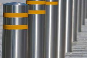 China Civilian / Military Stainless Steel Bollards With Various Control Method Available on sale