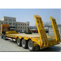 Low Bed Trailers with 3Pcs FUWA Brand Axles / flat bed trailer