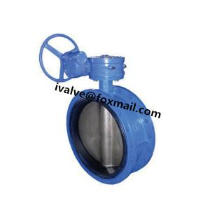 China 10 Inch Rubber Seal Butterfly Valve Flange Type on sale