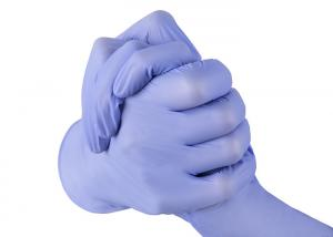 China Customized Color Disposable Hand Gloves / Disposable Nitrile Gloves CE Approved on sale