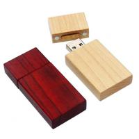 Red Colored Personalized Engraved Wood  USB Flash Drive ,  Wooden Thumb Drive