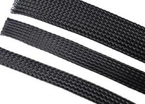 China Flexo PET Eexpandable Braided Sleeving Custom For Fireproof Wire Cable Management on sale