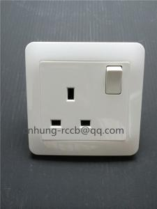 China British standard three parties with one gang wall switch socket on sale