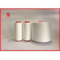Raw White Virgin Close Ring Spun Polyester Yarn For Clothing Wear Comfortable