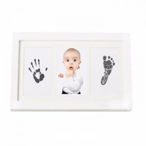China Baby first year souvenir - funny 13 windows newborn baby collage photo / wood picture frame on sale