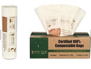 China Bagease Bagplastics Biodegradable polythene cassava grocery bio carry degradable plastic bag corn starch shopping bags on sale