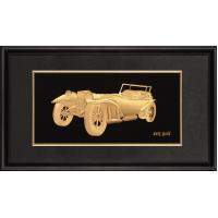Artistic 3D Pure gold foil crafts , gold leaf music vintage vehicle frame