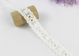 China Water Soluble Chemical Cotton Lace Trim Net Ribbon For Girl Dress Off White on sale