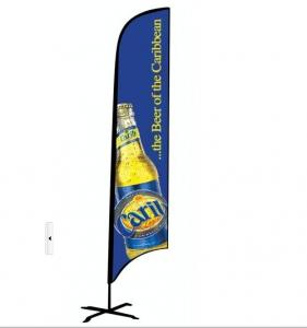 China custom flags banners Outdoor Advertising Flying Feather Beach Flag on sale