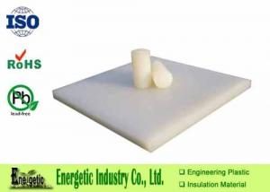 China Custom Extruded White PVDF Plate , 50mm High Dielectric Strength on sale