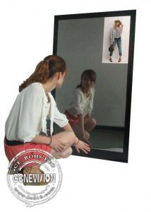 China 13.3 Inch Magic Mirror Advertising Player , Bathroom Body Motion Sensor Mirror Media Player Android on sale