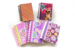 """China Hardcover Colorful Spiral Bound Notebook 4.5"""" x 5.5"""" hardback notebook on sale"""