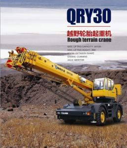 China QRY30 rough terrain crane, mobile crane, wheeled crane, wheel crane, hydraulic crane, RT crane, telescopic crane on sale
