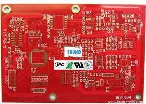 China Cob HDI PCB Prototype Board Red Color Solder Masker FR4 Hard Plating Holes on sale