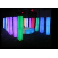 Square LED Light Furniture Remote Control 30*30*190cm LED Light Columns