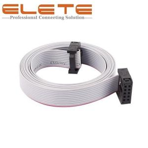China 2.54mm Pitch 10Pin 10 Wires Female to female IDC Connector Flat Ribbon Cable 150cm long IDC Connector on sale