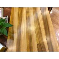 Multi colored African iroko solid wood flooring