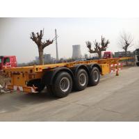2 / 3 Axles Skeleton Container Semi Trailer Trucks , container transport