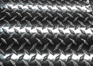 China Slip Resistant 3003 Aluminum Diamond Plate Easy Fabricate For Trailers on sale