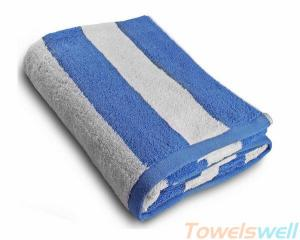 China Cotton Striped Bath Towels Ultra Soft, Streak Free, Durable on sale
