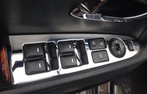 China KIA Sportage R 2014 Auto Interior Trim Parts , ABS Chromed Window Switch Cover on sale