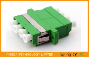 China SM 9/125 um Fiber Optic Adapter LC / APC , Optical Fibre Adapter Green Quad 4 Way on sale