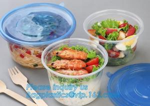 China 550ml Microwavable Plastic Disposable Food Packaging Container Rice Bowls For Food,Pp Round disposable cheap high qualit on sale