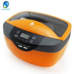 China Double Transducers Plastic Household Ultrasonic Cleaner With Degass And Touch Key on sale