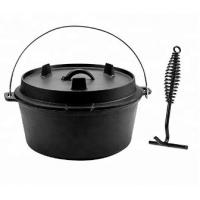 China Pre-Seasoned Cast Iron Dutch Oven with Lid and Lid Lifter Tool Outdoor Camp Pot, 8Quart on sale