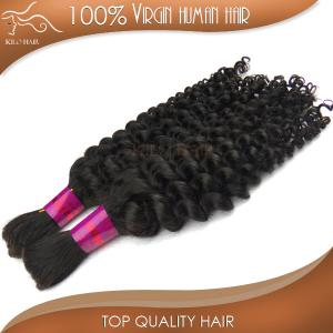 China 100g  4pcs/lot mix length 10-30inch stock deep curly human hair hair bulk braiding hair braids grade 6A on sale