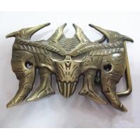 Vintage bull horn men belt buckles, antique brass OX horn belt buckle for men,custom made,